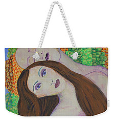 Eve Emerges Weekender Tote Bag by Kim Nelson