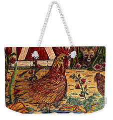 Even Chickens Can Be Heroes Weekender Tote Bag