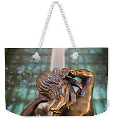 Weekender Tote Bag featuring the photograph Even Statutes Spit by Lora Lee Chapman