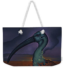 Weekender Tote Bag featuring the painting Evening And The Hiss Of Sadness by Andrew Batcheller