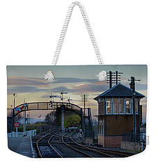 Evening At Bo'ness Station Weekender Tote Bag