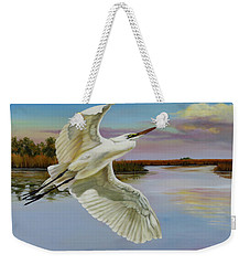 Evening At Campbell's Bayou Weekender Tote Bag by Phyllis Beiser