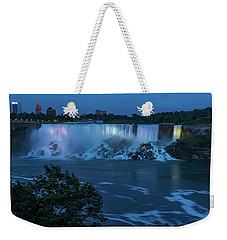 Weekender Tote Bag featuring the photograph Evening At Niagara Falls, New York View by Brenda Jacobs