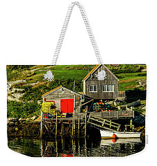 Evening At Peggys Cove Weekender Tote Bag by Ken Morris