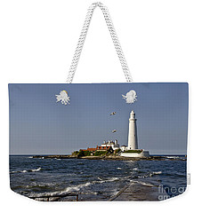 Evening At St. Mary's Lighthouse Weekender Tote Bag