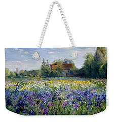 Evening At The Iris Field Weekender Tote Bag
