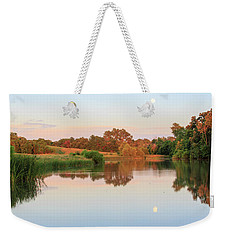 Weekender Tote Bag featuring the photograph Evening At The Lake by David Chandler
