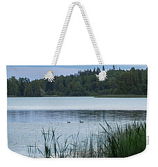 Evening At The Lake With Two Mallards Weekender Tote Bag