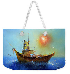 Evening Boat Weekender Tote Bag