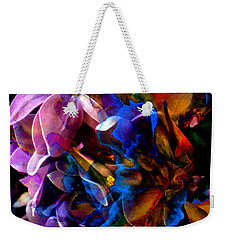 Weekender Tote Bag featuring the painting Evening Bouquet by Hanne Lore Koehler