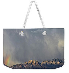 Weekender Tote Bag featuring the photograph Evening Drama Over The Organs by Kurt Van Wagner