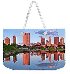 Weekender Tote Bag featuring the photograph Evening Falls In Columbus by Frozen in Time Fine Art Photography