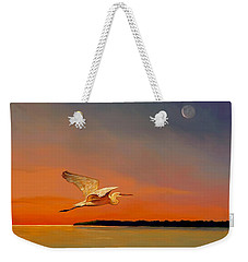 Evening Flight Weekender Tote Bag by David  Van Hulst