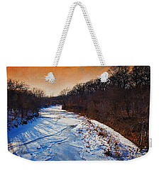 Evening Frozen Creek Weekender Tote Bag