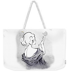 Weekender Tote Bag featuring the digital art Evening Gloves by Cindy Garber Iverson