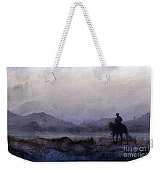 Evening Horseback Ride Weekender Tote Bag