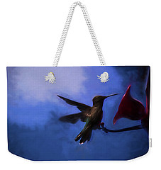 Evening Hummingbird Weekender Tote Bag