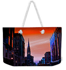 Evening In Boston Weekender Tote Bag