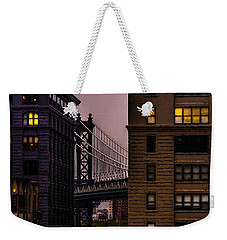 Weekender Tote Bag featuring the photograph Evening In Dumbo by Chris Lord