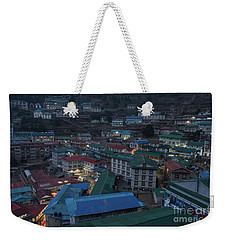 Weekender Tote Bag featuring the photograph Evening In Namche Nepal by Mike Reid
