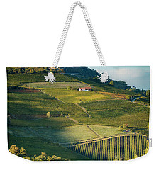 Weekender Tote Bag featuring the photograph Evening In Piemonte by Brian Jannsen