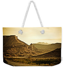 Weekender Tote Bag featuring the photograph Evening In The Canyon by Marilyn Hunt