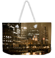 Evening In The Windy City Weekender Tote Bag by Miguel Winterpacht