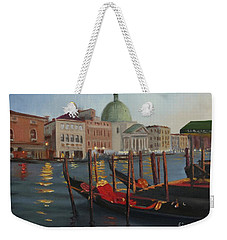 Evening In Venice Weekender Tote Bag