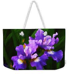 Evening Iris Weekender Tote Bag