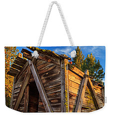 Evening Light On An Old Cabin Weekender Tote Bag
