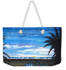 Tropical Evening Weekender Tote Bag by Mary Ellen Frazee