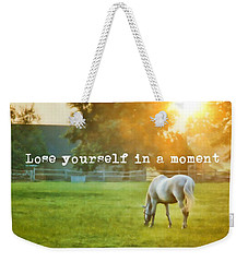 Evening Mist Quote Weekender Tote Bag