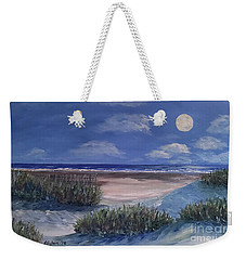 Evening Moon Weekender Tote Bag