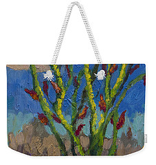 Evening Ocotillo Weekender Tote Bag by Diane McClary