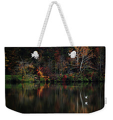 Weekender Tote Bag featuring the photograph Evening On The Lake by Rowana Ray