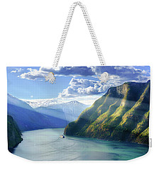 Evening Over Geirangerfjord Weekender Tote Bag