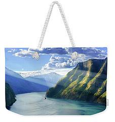Evening Over Geirangerfjord Weekender Tote Bag