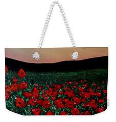 Evening Poppies Weekender Tote Bag