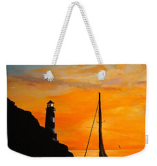 Weekender Tote Bag featuring the painting Evening Serenity by Alan Lakin