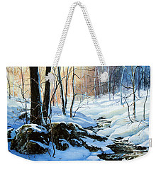 Weekender Tote Bag featuring the painting Evening Shadows by Hanne Lore Koehler