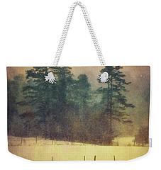 Evening Snow Glow Weekender Tote Bag