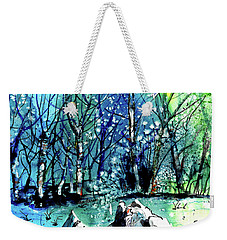 Evening Snowstorm Weekender Tote Bag