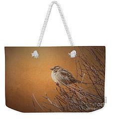 Evening Sparrow Song Weekender Tote Bag