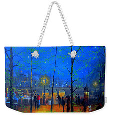 Evening Street Market Paris Weekender Tote Bag by Joe Gilronan