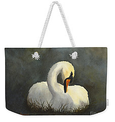 Evening Swan Weekender Tote Bag by Phyllis Howard