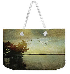 Evening, The Lake Weekender Tote Bag