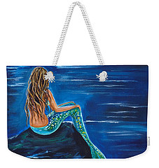 Evening Tide Mermaid Weekender Tote Bag by Leslie Allen