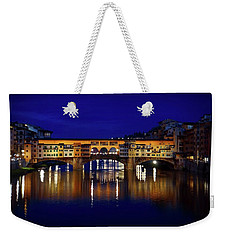 Evening View Of Ponte Vecchio Weekender Tote Bag by Patricia Strand