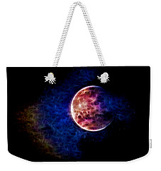 Ever Changing Moon Color Waves Weekender Tote Bag by Denise Beverly