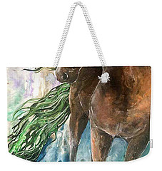 Ever Green  Earth Horse Weekender Tote Bag